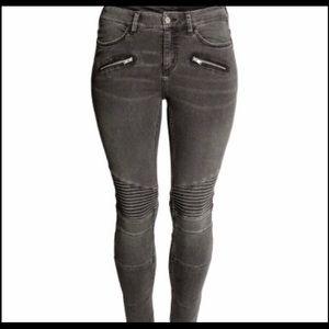 H&M Moto skinny jeans